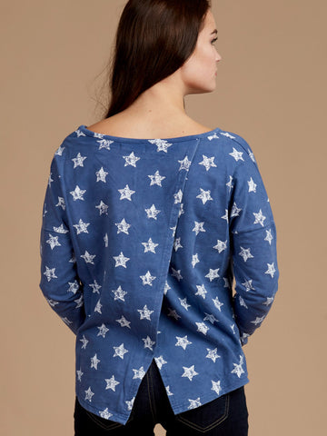 Starred Up Long Sleeve Top