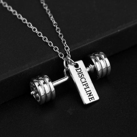 🏋🏼‍♀️ Discipline (Barbell) Necklace