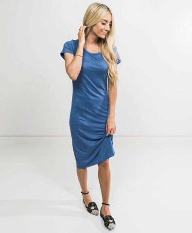 Brynne Dress in Denim Blue