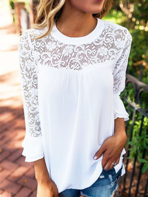 We Will Get There White Lace Top