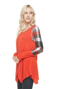 Draped in Style Plaid Top
