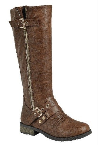 Outlaw Low Heel Riding Boots