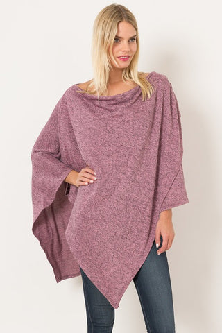 Super Cozy Fine Asymmetrical Sweater Poncho