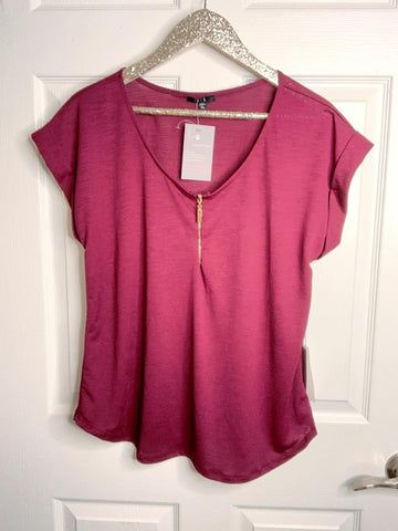 I'll Fall For You Over Again Burgundy Top