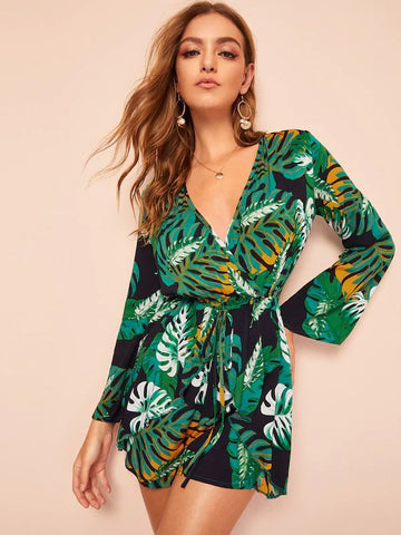 Islands Aways Palm Flower Romper