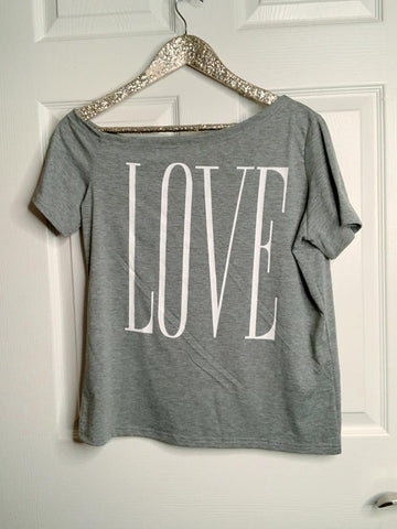 'LOVE' Me Off The Shoulder Top
