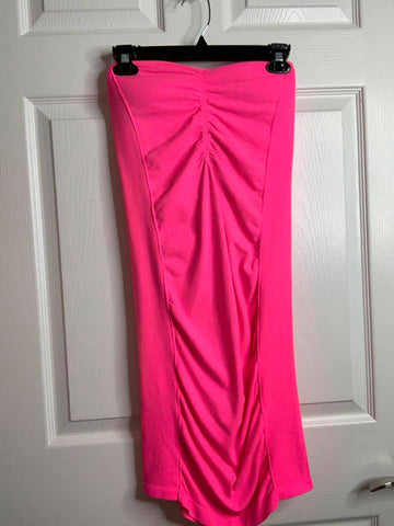 Seamless Jersey Hot Pink Tube Dress