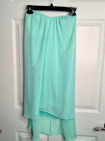 Circles Of The Wind Teal Tube Top Dress
