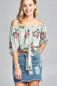 Floral Dream Woven Off The Shoulder Top
