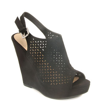 Matilda Perforated Platform Sandal
