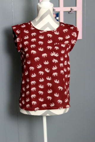 Roll Tide Elephant Print Top