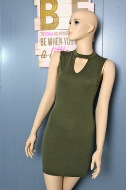 Olive Bodycon Dress