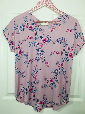 Lovely Floral Short Sleeve Top