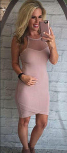 Mesh Obsessed Dusty Rose Midi Dress