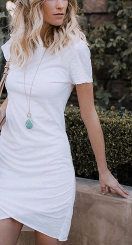 Summer Essential Midi Tee Shirt Dress