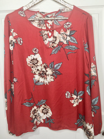 Walk In The Garden Floral Top