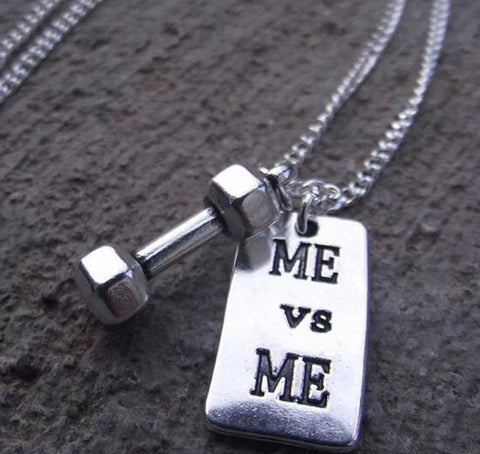 🏋🏼‍♀️ Me Vs Me (Dumbbell) Necklace