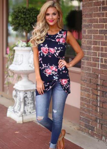 Such A Vision Floral Sleeveless Top