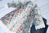 Let Me Love You Floral and Lace Kimono Cardigan