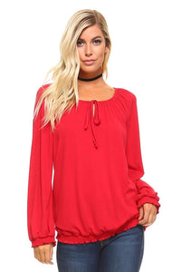 Everything Will Be Alright Peasant Top
