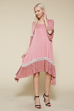 Can't Hurry Love Dusty Rose Dress
