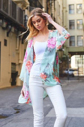All About You Floral Kimono