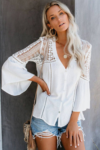 Maggie Flared Long Sleeve Top