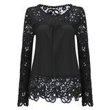 There She Is Lace Chiffon Top