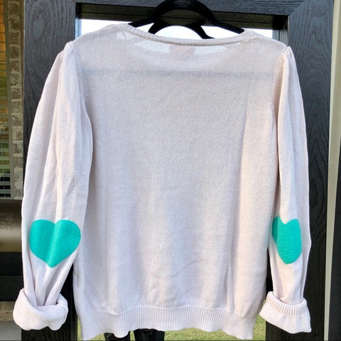 All My Heart Elbow Patch Sweater
