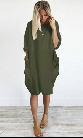 Kisses And Smores Oversize Loose Dress