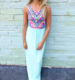 Never Younger Aztec Maxi Dress