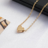 Heart Choker Gold Necklace
