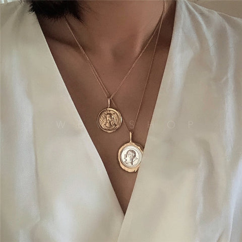 Timeless Wonder Layered Coin Necklace