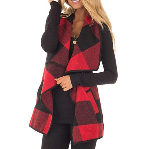 PREORDER -  Plaid Promises Open Vest