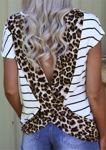 Just Like A Leopard Open Back Top