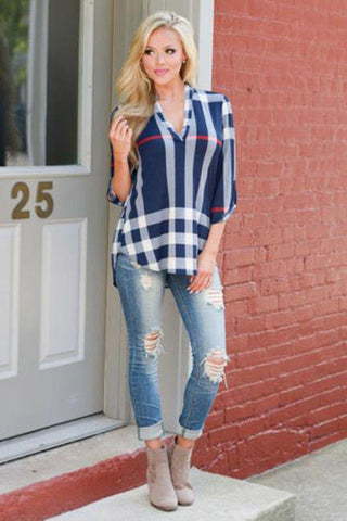 Crazy in Love Plaid Top
