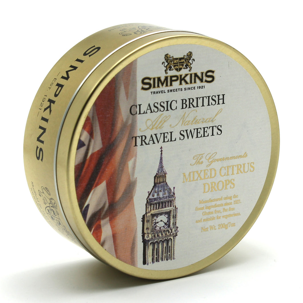 Simpkins Big Ben Mixed Citrus Drops Tin 200g
