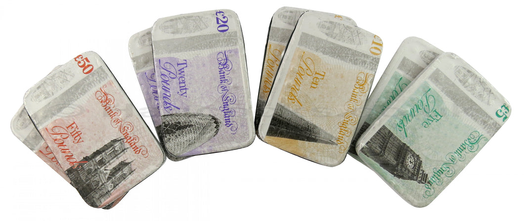 JG Kingsway Milk Chocolate Bank Notes UK x 4