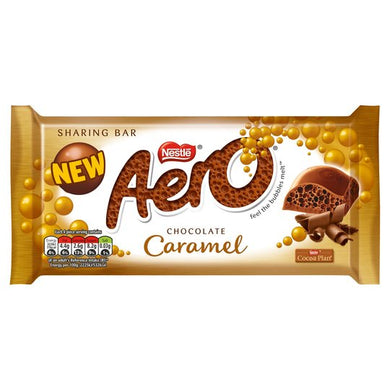 Aero Giant Bar Milk CARAMEL Chocolate 100g