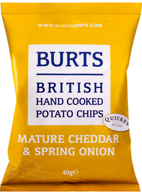 Burts Mature Cheddar & Onion Crisps 150g (5.3 oz)