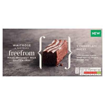 Waitrose Free From Chocolate Cake Slice - CHRISTMAS - FRAGILE
