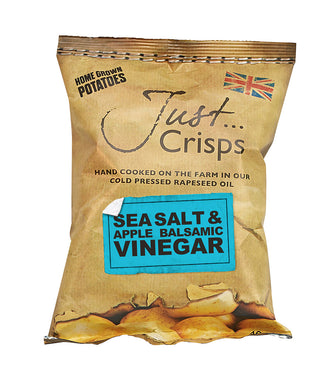 Just Crisps Sea Salt & Apple Balsamic Vinegar Crisps 40g
