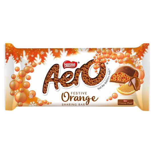 Aero Orange Festive Bar 100g - CHRISTMAS
