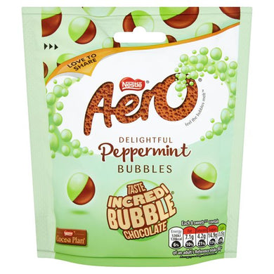 Aero Peppermint Chocolate Bubbles Pouch 102g