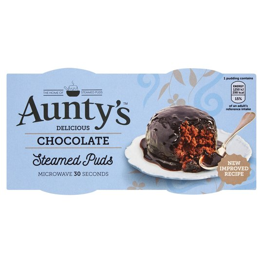 Aunty's Chocolate Sponge Pudding 2 pack (2x95g)