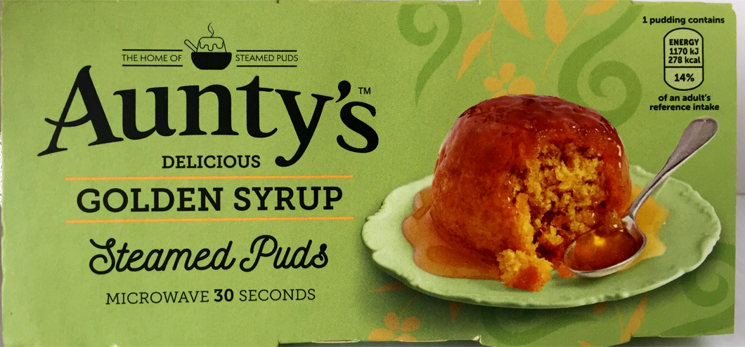 Jolly Grub | Aunty's Golden Syrup Sponge Pudding 2pk (2 x 100g)