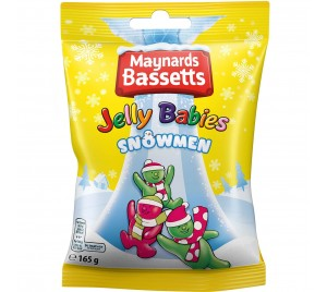 Bassetts Jelly Babies Snowmen Bag 165g - Christmas