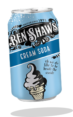 Ben Shaws Cream Soda Can 330ml