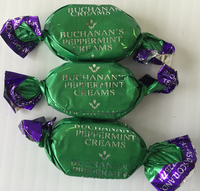 JG Buchanans Chocolate Peppermint Creams Wrapped Sweets 100g