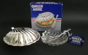 Queen Anne Silver Plated Butter Dish